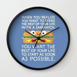 When Harry Met Sandwich Wall Clock