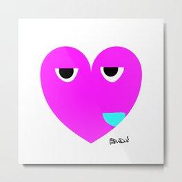 funny heart Metal Print