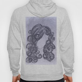 Girl with Curly Hair Hoody