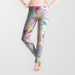 pink paris pattern Leggings