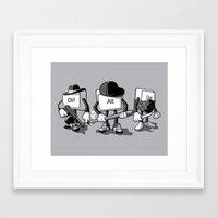 computer Framed Art Prints featuring Computer Mafia by MEKAZOO