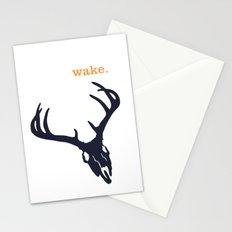 WAKE - SKULL (WHITE) Stationery Cards