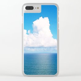 White Cloud Horizon - Tropical Horizons Series Clear iPhone Case