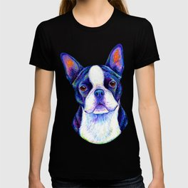 Colorful Boston Terrier Dog T-shirt