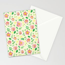 California Rose Pattern Stationery Cards