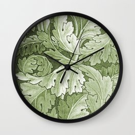 Celery Green Acanthus Plant Wall Clock