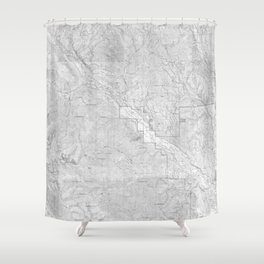 Methow Valley Topography - SeriousFunStudio Shower Curtain