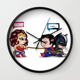 Chibi Dawn of Justice - JLA Wall Clock