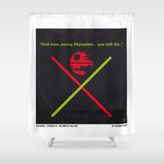 No156 My STAR Episode VI Return of the Jedi WARS minimal movie poster Shower Curtain