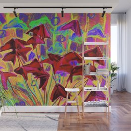 Oxalis psychedelic version Wall Mural