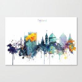 Oakland California Blue  skyline print Canvas Print