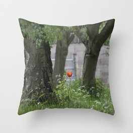 Lonely Tulip Throw Pillow