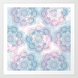 Mandalas Clouds of Cotton Candy Art Print