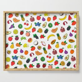 Fruit Salad Drawing Serving Tray
