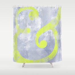 Grungy Ampersand Shower Curtain
