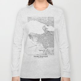 Vancouver White Map Long Sleeve T-shirt