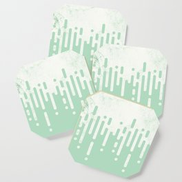 Marble and Geometric Diamond Drips, in Mint Coaster