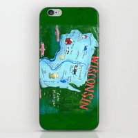 wisconsin iPhone & iPod Skins featuring WISCONSIN by Christiane Engel