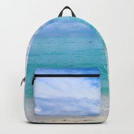 Beach. Backpack