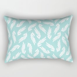 Simple hand drawn branches on light blue background Rectangular Pillow