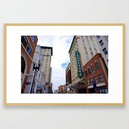 Main Street, Knoxville Framed Art Print