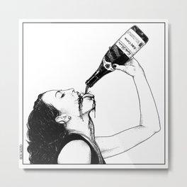 asc 560 - La bouteille (My friend Aloxe) Metal Print