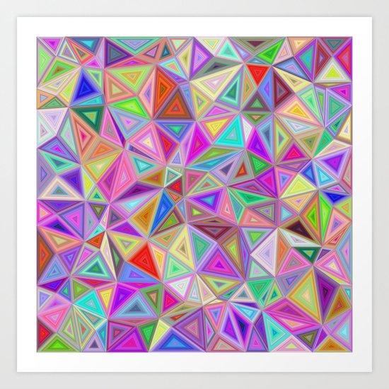 Triangular happiness Art Print
