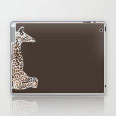 Giraffe in Brown Laptop & iPad Skin