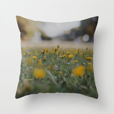 Yellow Summer Throw Pillow