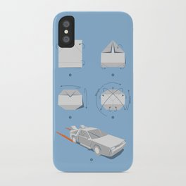 Origami DeLorean iPhone Case
