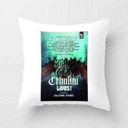 Cthulhu Lives! Throw Pillow