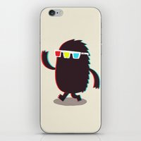 monster iPhone & iPod Skins featuring MONSTER 3d by Monster Riot