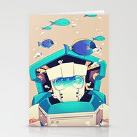 underwater Stationery Cards featuring Underwater by Coralus