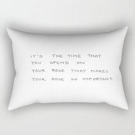 time spent on rose Rectangular Pillow