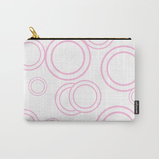 Abstract circles - abstract patterns - pink Carry-All Pouch