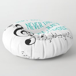 Old musicians never die, they just decompose export 03 Floor Pillow