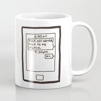text Mugs featuring Text by itishazel