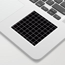 Citymap Grid - Black/White Sticker