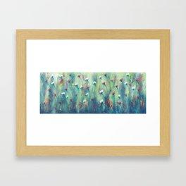 Dancing Field of Flowers Framed Art Print