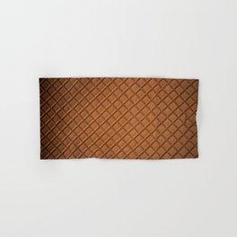 Chocolate brown leather lattice pattern - By Brian Vegas Hand & Bath Towel