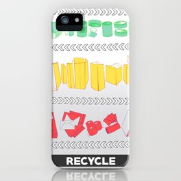 Recycling Piece iPhone Case
