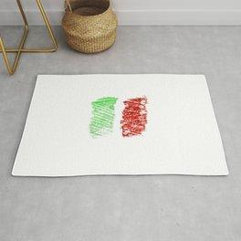 flag of Italia chalk- Italy,Italia,Italian,Latine,Roma,venezia,venice,mediterreanean,Genoa,firenze Rug
