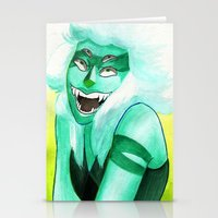 malachite Stationery Cards featuring Malachite by Moth Studios Art