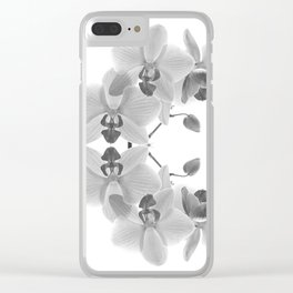 Mono Orchids Clear iPhone Case