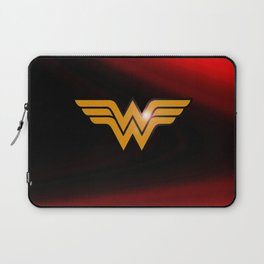 WonderWoman emblem insígnia Wonder, Red, Gold, Diana Prince, warrior princess of the Amazons Laptop Sleeve