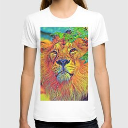 AnimalColor_Lion_001_by_JAMColors T-shirt