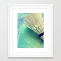 feather Framed Art Prints featuring Feather by Yilan