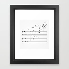 Natural Musical Notes Framed Art Print