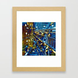 Blue Lines of Berlin Framed Art Print