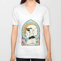 trooper V-neck T-shirts featuring TROOPER by KMLS